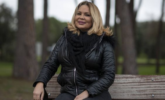Isabel Torres, actriz y presentadora, en el rodaje de 'Veneno'. INMA FLORES