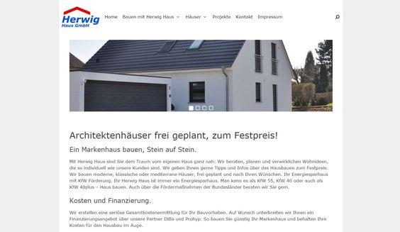 Unsere Webseite in neuem Design! Gleich mal vorbeiklicken: www.herwig-haus.de