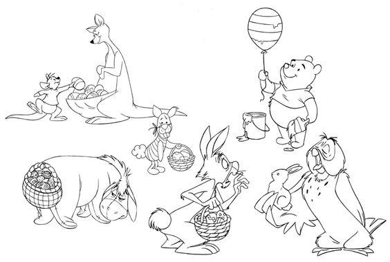 winnie the pooh happy birthday coloring pages - printables4kids free coloring pages word search puzzles