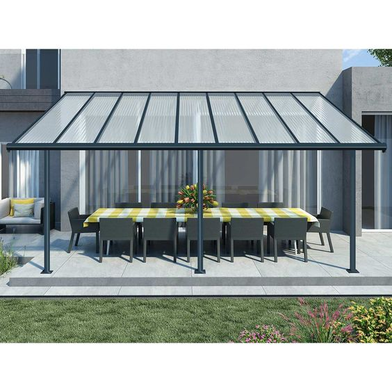 Pin By Martina Herrera On Pergola Aluminum Patio Covers Gray Patio Furniture Covered Patio