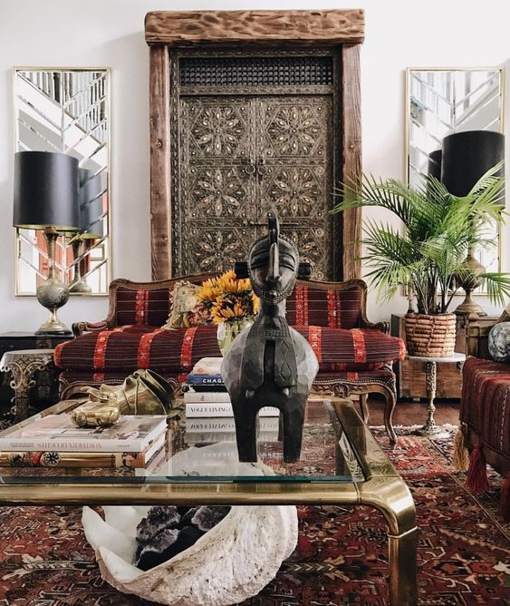 Stunning Global African Asian Living Room Get The Look With Authentic Stunning Imports An Cozy Living Room Design Eclectic Interior Design Eclectic Interior