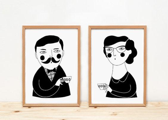 The tea hour - Prints - 8 x 11.5 - A4