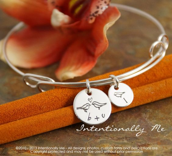 Hand+Stamped+Mommy+Bracelet+++Personalized+by+IntentionallyMe,+$60.00