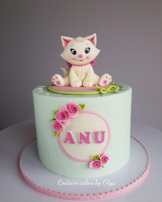 Terrific Kitten Birthday Cake Kat Taart Taart Taart Ideeen Funny Birthday Cards Online Necthendildamsfinfo