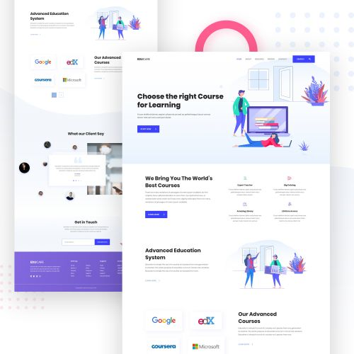 Online Course Landing Page In Landing Page Design By Jenat Ara Landing Page Online Courses Website Design