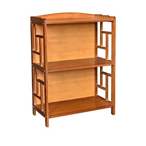 Bamboo Shelf Bookcase Combination Multi Layer Bay Window