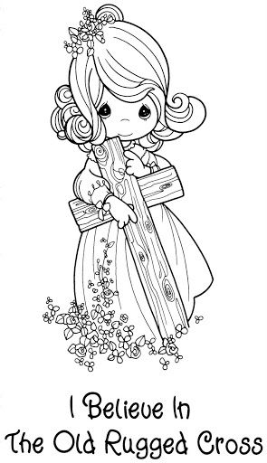 precious moments jesus loves me coloring pages | 719.jpg (295×512) | Precious Moments Christmas Book ...