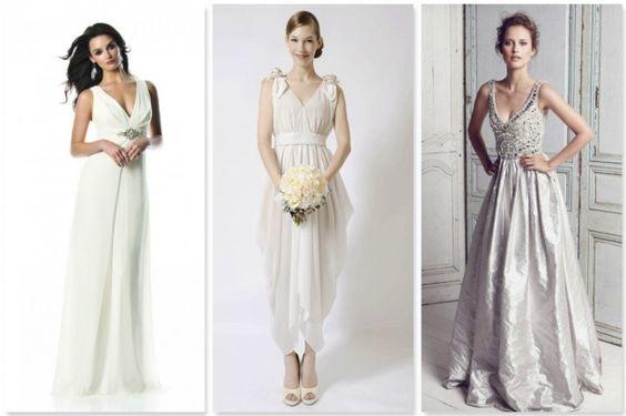 vestidos de noiva decote v 2