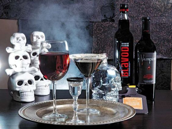 For the simplest way to host a spooky celebration, serve Crystal Head Vodka, Blavod Black Vodka and Vampire Cabernet to create the perfect Halloween mood.