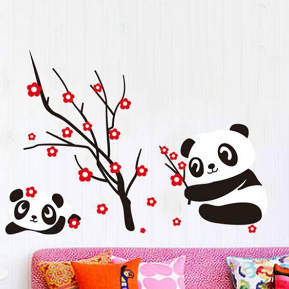Pandamacik cseresznyeágon falmatrica.  #panda #gyerekszobafalmatrica #falmatrica #gyerekszobadekoráció #gyerekszoba #matrica #faldekoráció #dekoráció