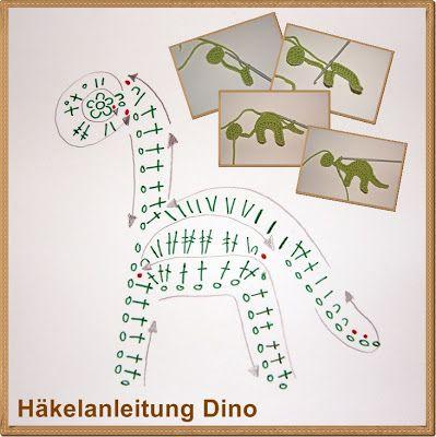 Häkelanleitung Dino...