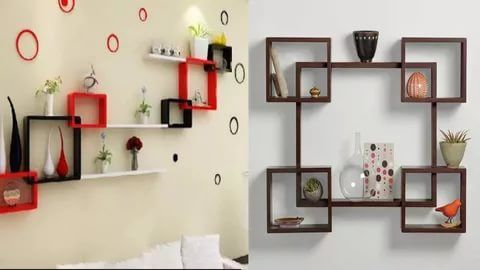 30 Exclusive Wall Shelf Ideas In 2020 Shelf Designs For Hall Hall Room Design Wall Shelves Design