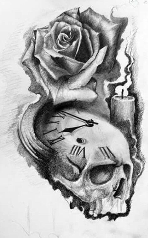 flower sketches design tattoos and rose flowers on pinterest. Black Bedroom Furniture Sets. Home Design Ideas