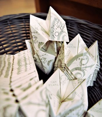cootie catcher wedding programs
