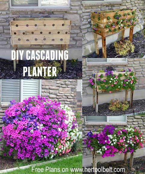 Pallet Planter Box For Cascading Flowers Start With An Old Pallet