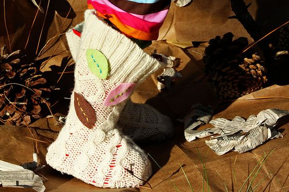 Upcycled Sweater Boots Tutorial