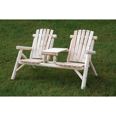 Stonegate Designs Double Fir Wood Log Adirondack Chair