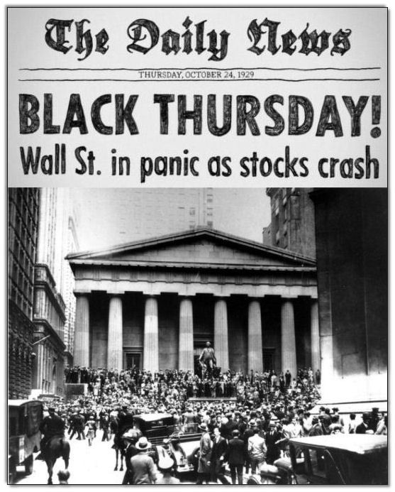 Black Thursday October 24 1929 Stock Market Crash Stock