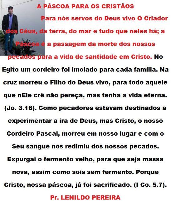 PASCOA PARA OS CRISTÃO