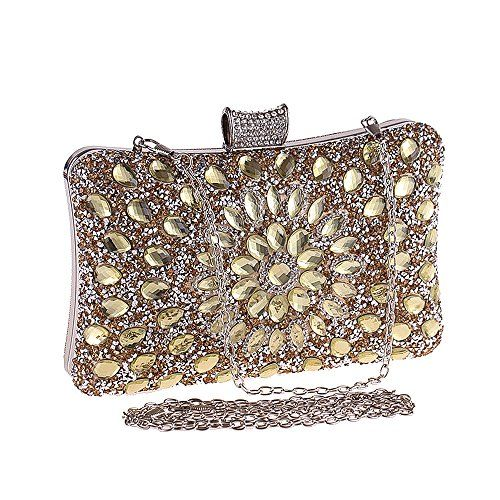 High Quality Sparkly Real Crystal Clutch Bag Purse.Ladies Evening Party Bridal