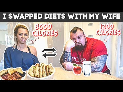 Strongman Swaps Diet With Wife For A Day Ft Eddie Hall Strongman 1200 Calories Diet