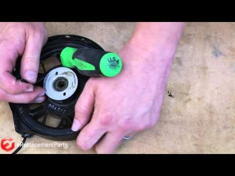How to Repair the Starter Cord on a Toro Lawnmower - http://www.thehowto.info/how-to-repair-the-starter-cord-on-a-toro-lawnmower/