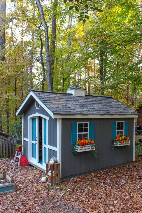 Custom Build A Cute Garden Shed Using A Shed Kit From Lowe S Building A Shed Shed Design Shed