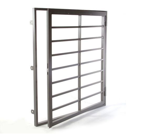 Reja de hierro de seguridad para ventanas modelo abatible - Modelo de rejas ...
