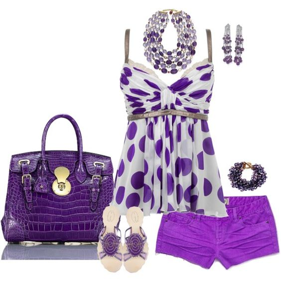 """""""gorgeous grape""""  shorts are tooo short for me, but still cute"""