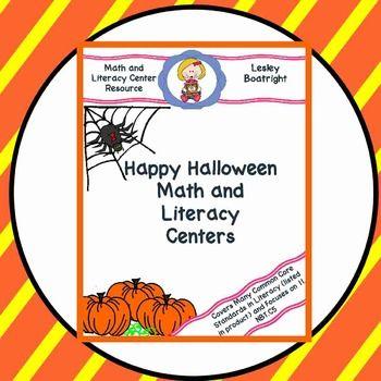 Happy Halloween Math and Literacy Centers Bundle