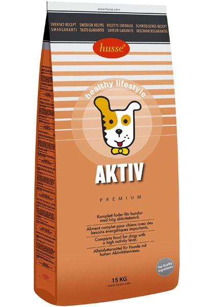 Pienso completo para perros con altas necesidades de energía.  Husse Aktiv Es un pienso completo para perros con altos requerimientos de energía. Husse Aktiv contiene una alta proporción de proteína animal, carbohidratos, grasas y otros nutrientes para cubrir la demanda de energía en los perros muy activos. Libre de colorantes.