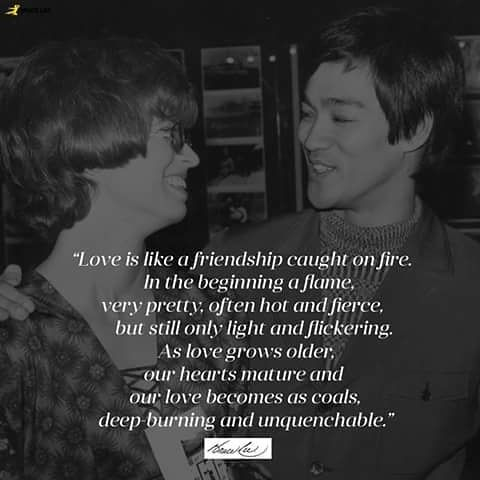 Reposting Live2inspire85 Love Is Like A Friendship Caught On Fire A Poem By Bruce Lee Brucelee Brucelee Bruce Lee Quotes Friday Motivation Growing Old