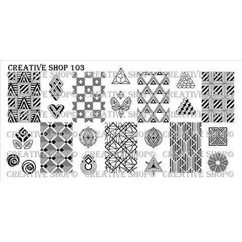 Creative Shop- Stamping Plate- 103