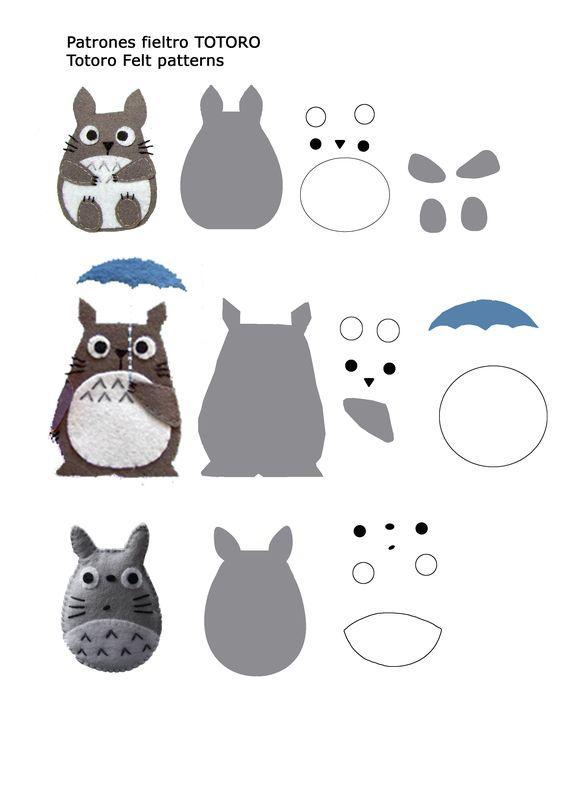 Patrones fieltro Totoro Felt patterns