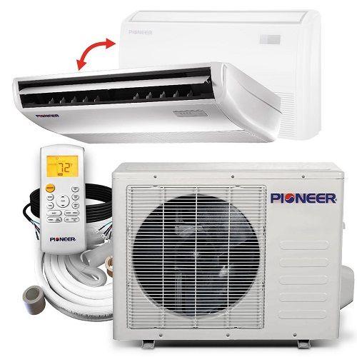 Floor Ceiling A C Heat Pump System In 2020 Heat Pump System Ductless Mini Split Heat Pump
