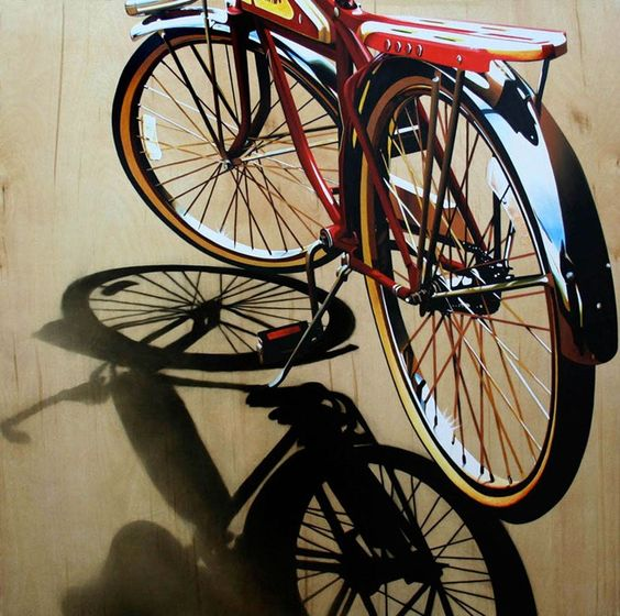 artist Brian Tull uses both oil and acrylic paint to create photorealistic images