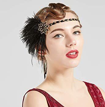 Coucoland 1920s Stirnband Feder Damen 20er Jahre Stil Flapper