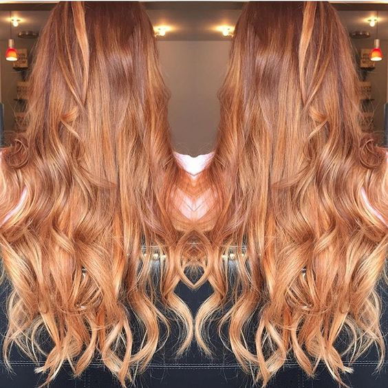 red to strawberry blonde ombre balayage hair ma pinterest balayage ombr rouge et balayage. Black Bedroom Furniture Sets. Home Design Ideas