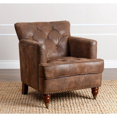 Home Brown Accent Chair Club Chairs Accent Chairs For Living Room