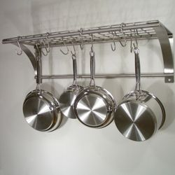 Epicure Stainless Steel Wall Mount Pot Rack Kitchen