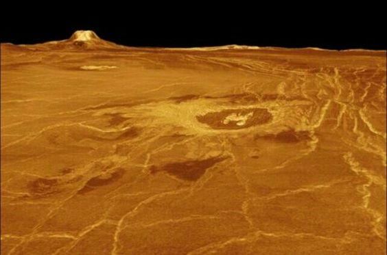 Vista de Venus desde la sonda Magallanes