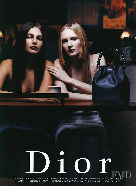 Photo feat. Bridget Hall - Christian Dior - Spring/Summer 1999 Ready-to-Wear - Fashion Advertisement | Brands | The FMD #lovefmd