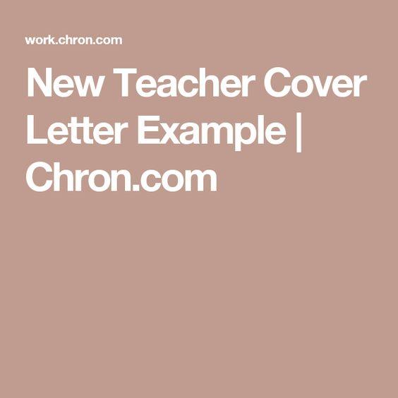 New Teacher Cover Letter Example Cover letter example, Letter - general cover letter for job fair