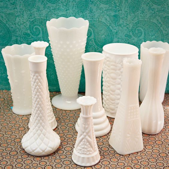 ... Urban Outfitters, Crate and Barrel | Milk Glass, Milk and Diy Wedding