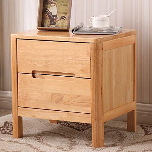 Qyszyg Solid Wood Bedside Table Simple Oak Small