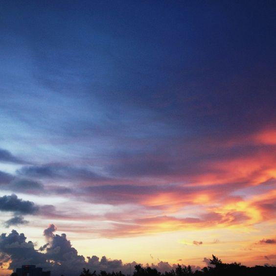 Cancun Sunset.