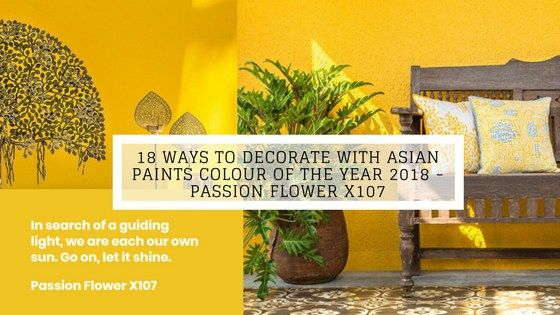 18 Ways To Decorate With Asian Paints Colour Of The Year 2018 Passion Flower X107 Asian Paints Asian Paints Colours Passion Flower