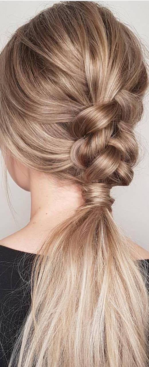 Trendy Pferdeschwanz Frisur Fur Lange Haare Leichte
