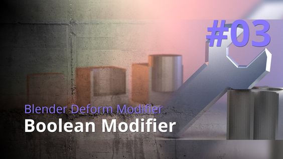 Blender Generate Modifier #03 - Boolean Modifier