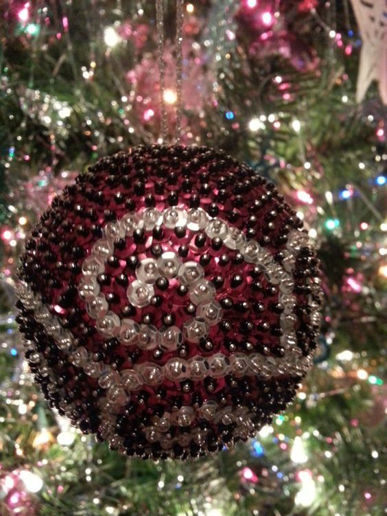 Gorgeous Handmade Sequin Ball Ornament by JMehargDesigns on Etsy, $25.00